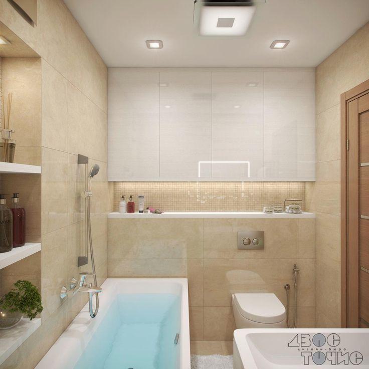 Незаметные шкафчики скрывают счетчики воды в ванной