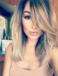 Her cut and color are nice
