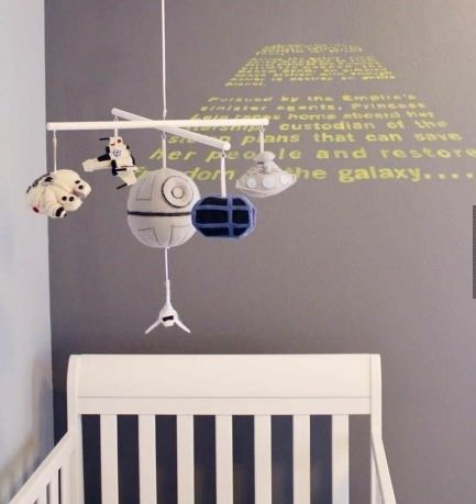 star wars nursery | Baby Stuff / Star Wars nursery. Never too young to start indoctrinating your children!