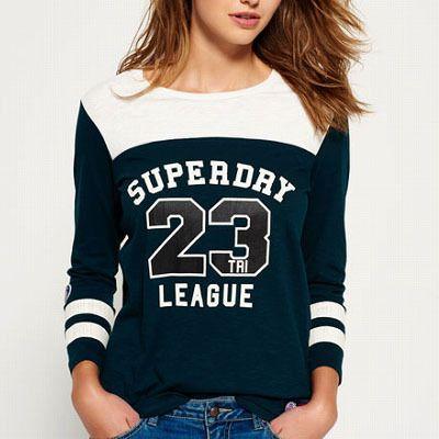 ★ベースボールスタイルの7分そでロゴTシャツ。
