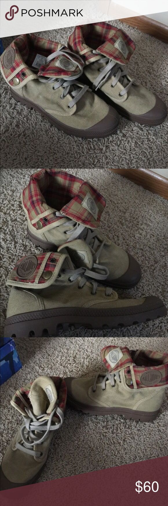 Palladium boots Palladium boots. Awesome condition. Only worn twice. Sorry, shoes do not come with a box. Palladium Shoes Sneakers