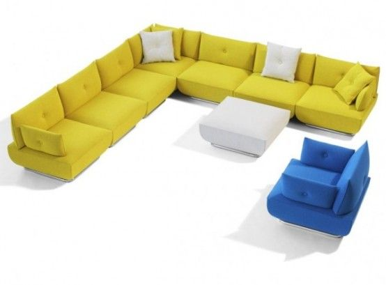 Modern Modular Sofa and Armchair with Flexible Design from Blå Station | DigsDigs