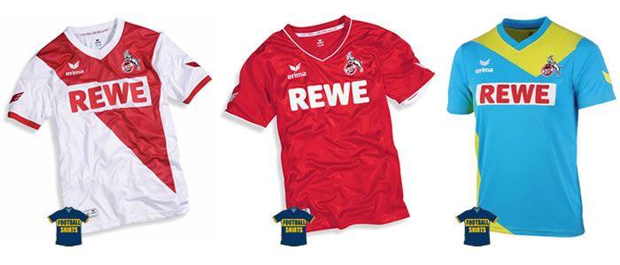 1. FC Köln Home, Away & Third Kits 2014-15