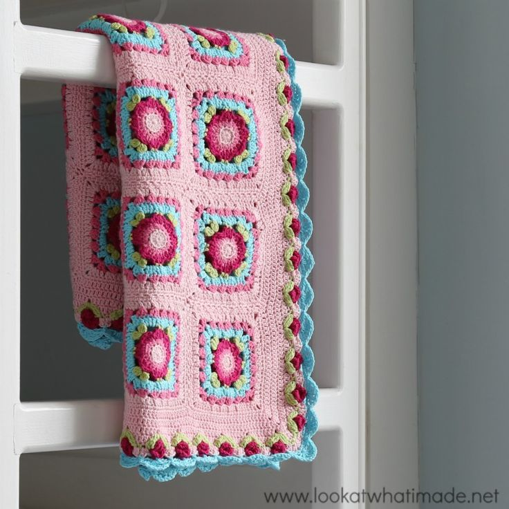 The crochet Lydia Blanket is light and summery and gloriously pink!  My favourite bit is the rose border. It just makes me so happy!  The pattern is free on my website and yarn packs are available from Wool Warehouse here: http://www.woolwarehouse.co.uk/lookatwhatimade/lydia-blanket-pack-scheepjes-cotton8