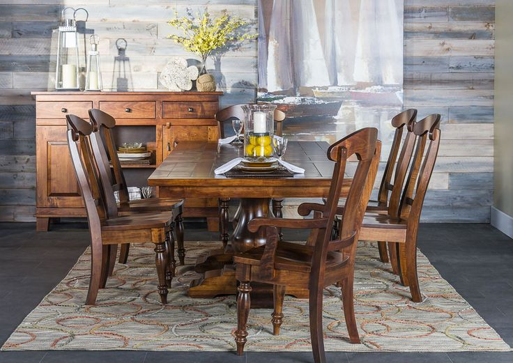 From LivingSpaces The Kensington Dining Room Set Is A Handcrafted Treasure