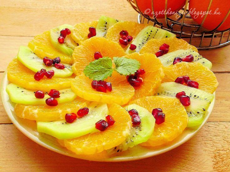 Az otthon ízei: Gránátalmás kiwi-narancs saláta