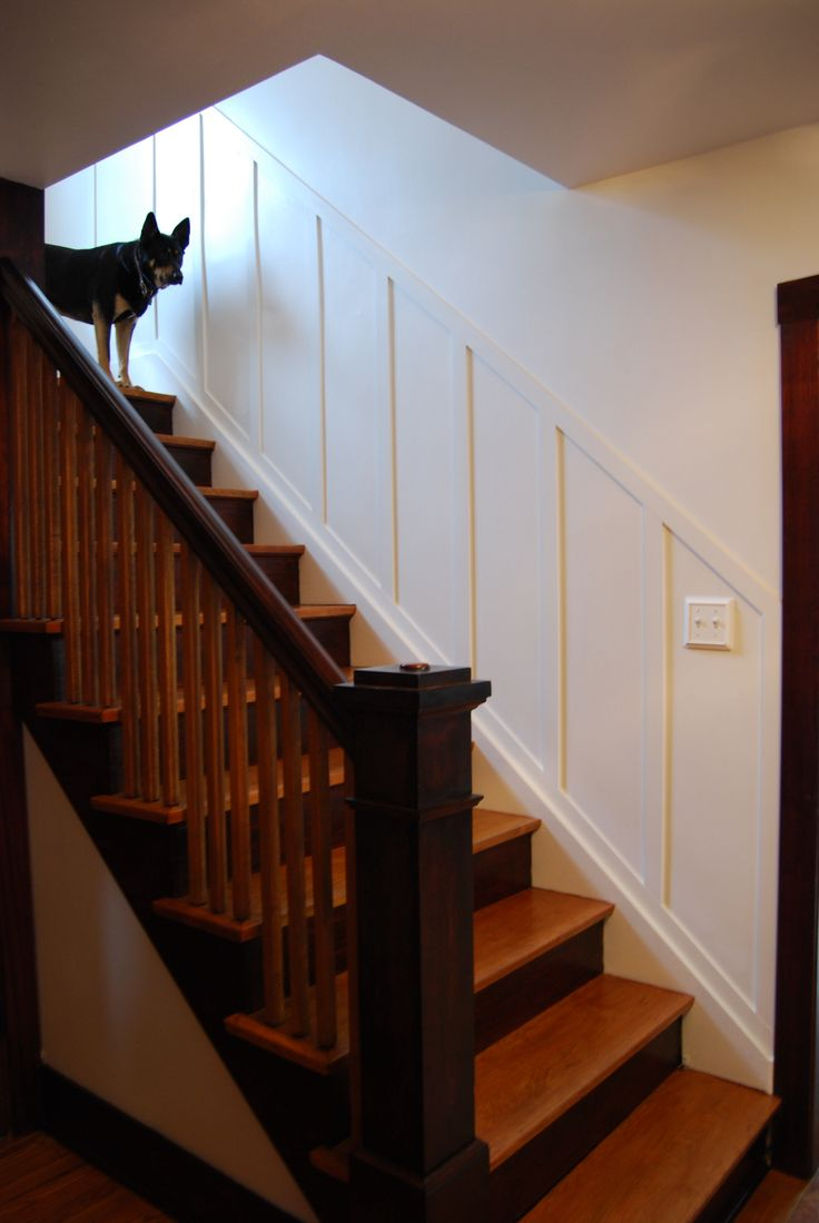 Challenge: different trim colors up stairs & downstairs ...