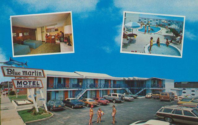 Blue Marlin Motel - Virginia Beach, Virginia -- A standard room, but stellar sign.