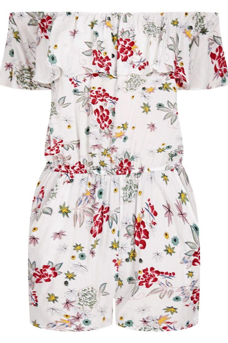 Φλοράλ κοντήολόσωμη φόρμα με τσέπες.Ύψος μοντέλου: 1,78m100% Viscose