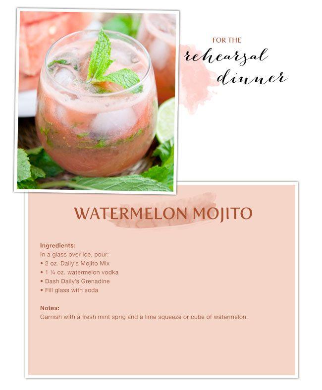 Summer cocktails for wedding events