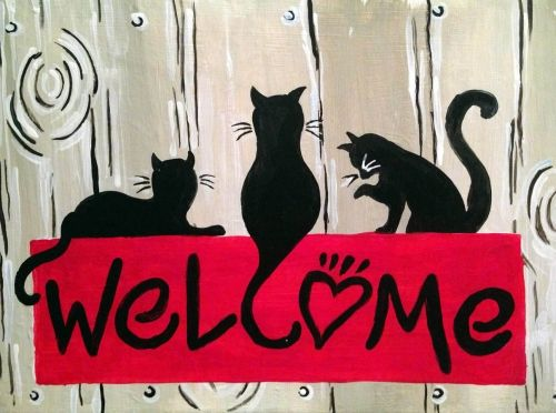 Hey! Check out Cat Welcome at Tilted Kilt Pub and Eatery - White Marsh - Paint Nite