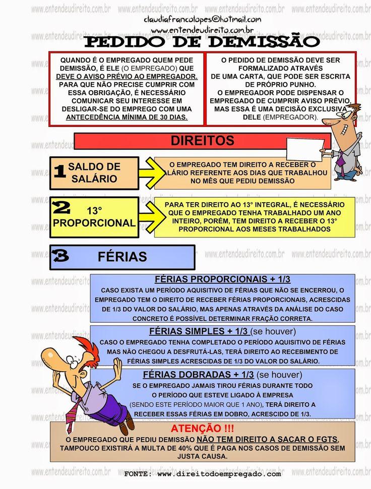 ENTENDEU DIREITO OU QUER QUE DESENHE ???: PEDIDO DE DEMISSÃO