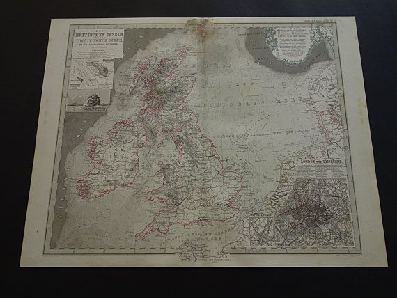 BRITAIN old map of the British Isles  original by DecorativePrints