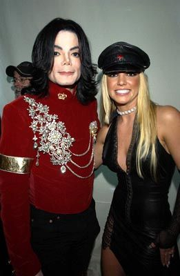 Britney Spears with Michael Jackson at his 30th anniversary concert at New York's Madison Square Garden in 2001
