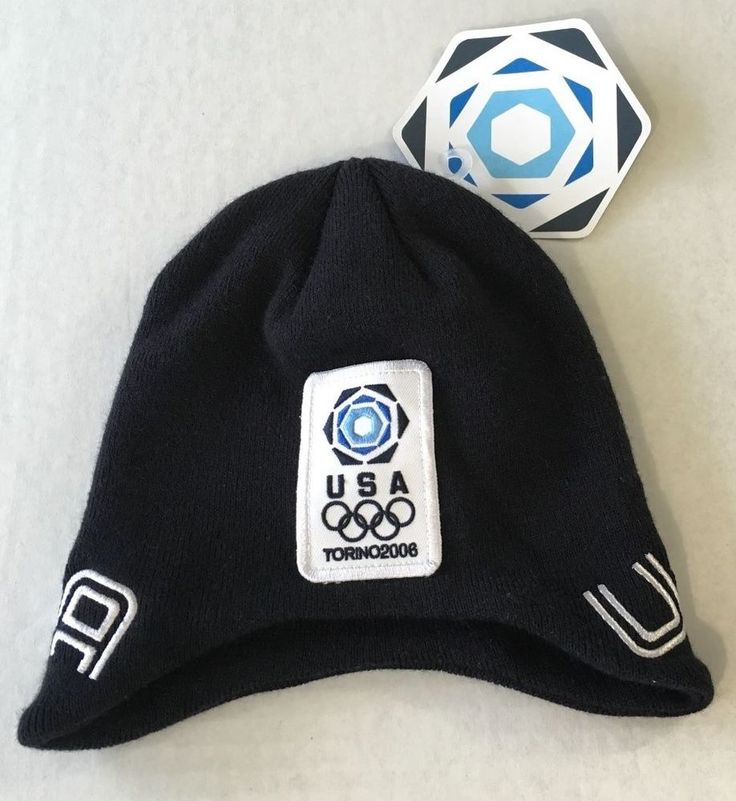 Olympics Torino 2006 Winter USA Roots Official Outfitter Cap Hat Toque S/M NEW  #Roots #USA