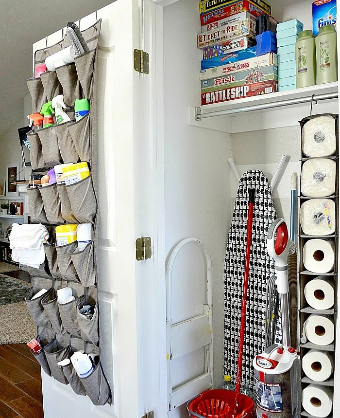 cleaning supplies hanging caddy 265 best Organization images on Pinterest