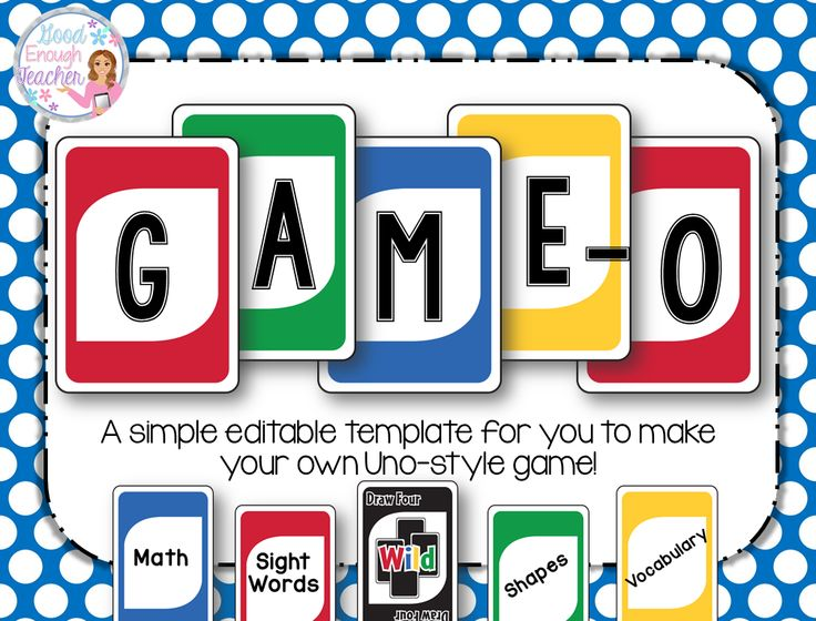 Game-O: An easy-to-use template to make your own uno-style games for use in your classroom!
