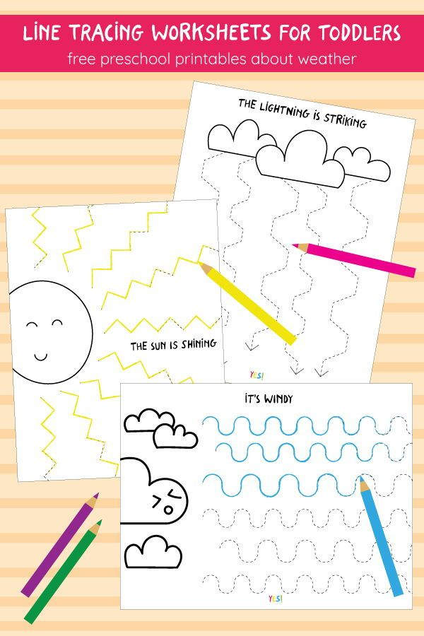 Preschool Line Tracing Worksheets The Weather With Images