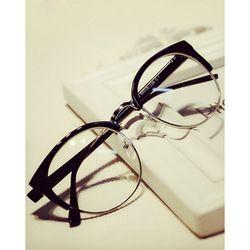 Online Shop 2015 New Fashion Men Women Unisex eyewear Metal Frame Cat Eye Rimless computer Vintage Oculos De Grau Brand Design Aliexpress Mobile