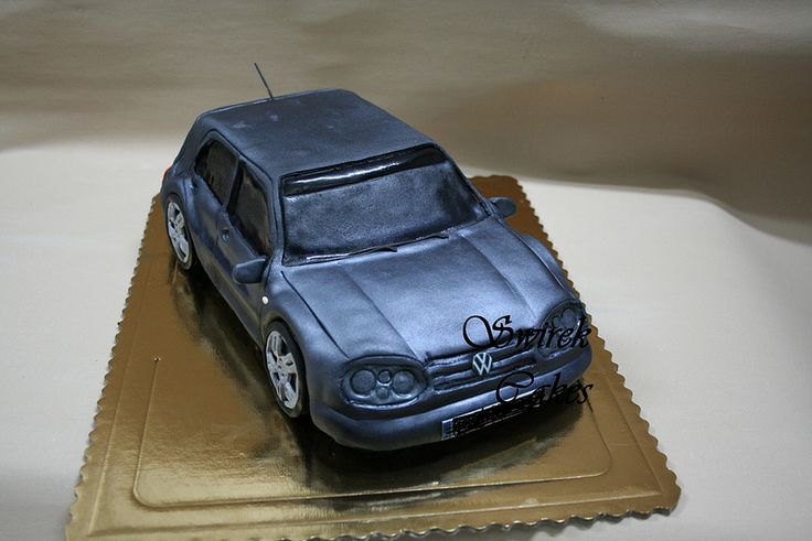 Volkswagen Golf Cake   Flickr - Photo Sharing!