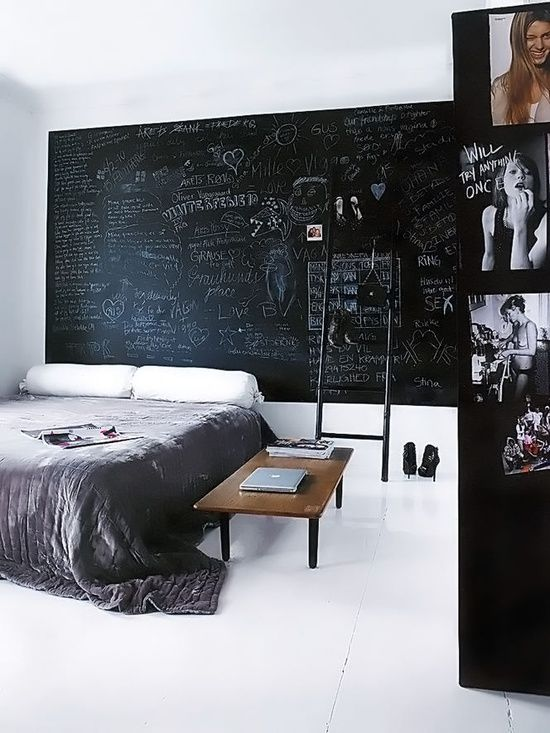 Bedroom Design For Men Chalk Board