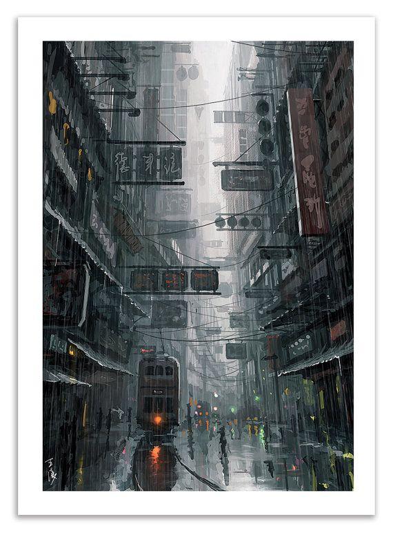 Wang Ling aka Wlop nous propose sa vision de Hong Kong, la ville où il vit, parfois sombre, pluvieuse. Un oeuvre magistrale nous offrant une atmosphère troublante, qui peut faire penser au film Blade Runner.  Affiche imprimée sur papier couché mat 170g, Haute Définition. Format unique : 50 x 70 cm (20 x 28 inches), dont 2,5cm de marge blanche. Format compatible avec encadrement standard. Affiche expédiée sans encadrement.  A partir de 2 Art-Posters : -20% SUR VOTRE COMMANDE ! (code : TWENTY)