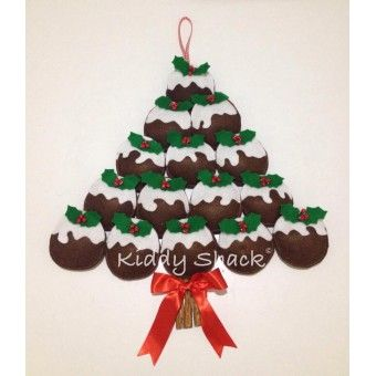 Felt Christmas Pudding Wall Hanging