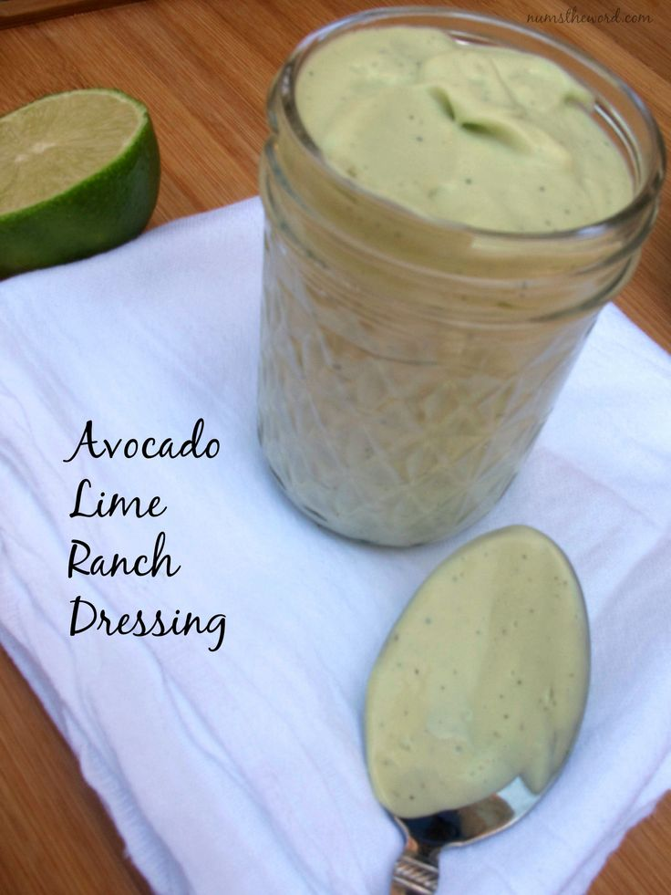 A creamy ranch dressing made with avocados, lime and greek yogurt!