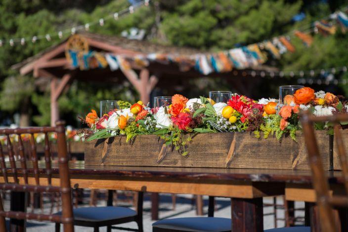 Legends Ranch Wedding, Long Centerpieces, Wood Centerpiece, Bright Wedding  Florals. Ranch Wedding.   Pinterest   Legends, Ranch Weddings And Wedding
