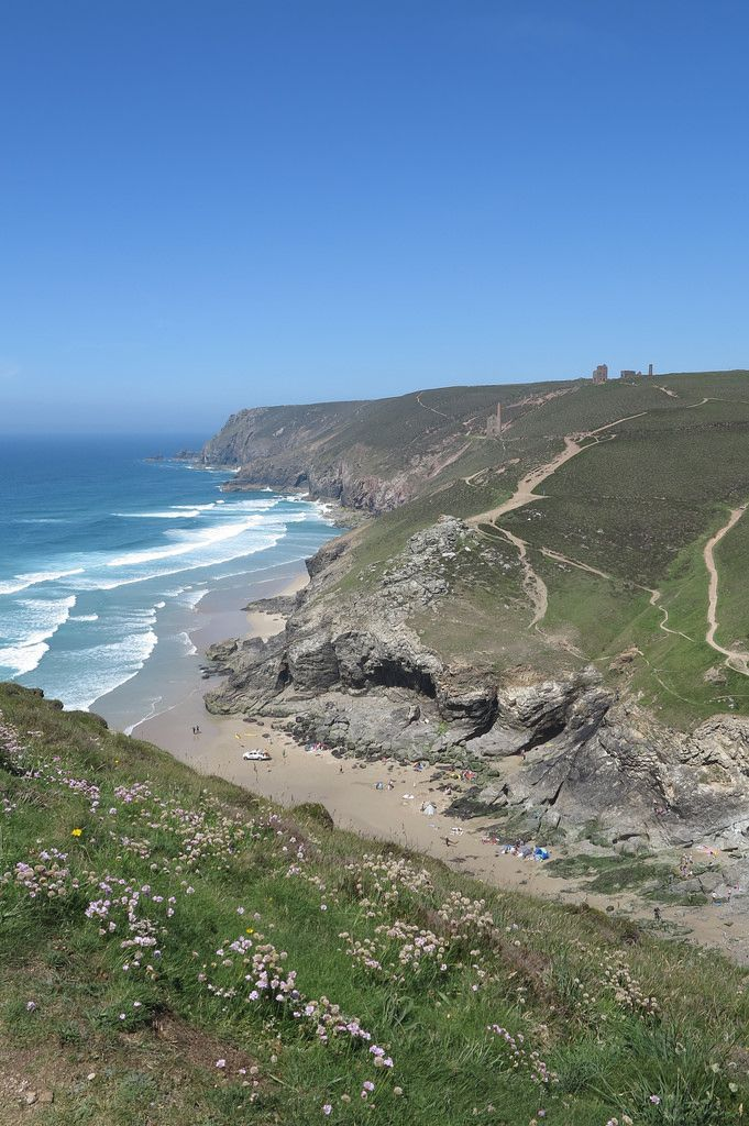 St Agnes Head, Cornwall, England #seecornwall #nationaltrust. I wonder if that house is Greengates.