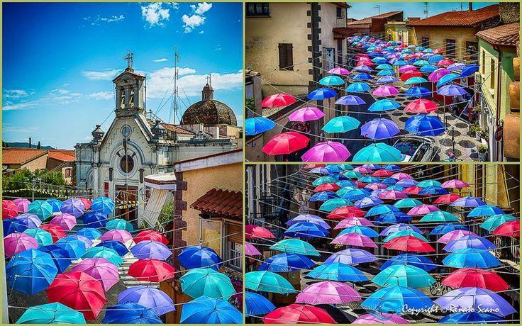 #Pula come Águeda in Portogallo famosa nel mondo  per i suoi ombrelli fluttuanti. Panorama da cartolina inviato da @RenatoScano #VisitPula #Sardinia #Sardegna #Discovering #VisitSouthSardinia #dafareaPula #SudSardegna #Colori Foto © Renato Scano Photos & Video renato.scano@tiscali.it  https://www.facebook.com/Pula.it/photos/a.148263651963894.3356.142246605898932/298346016955656/?type=1&theater