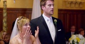 Esta novia quedó boquiabierta cuando un grupo de gente invadió su casamiento. ¡Que locura!