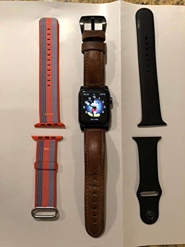 New Apple Series 2 Watch for iPhone - 42mm Space Gray Aluminum Case with Black Sport Band #Apple #Series #Watch #iPhone #Space #Gray #Aluminum #Case #with #Black #Sport #Band