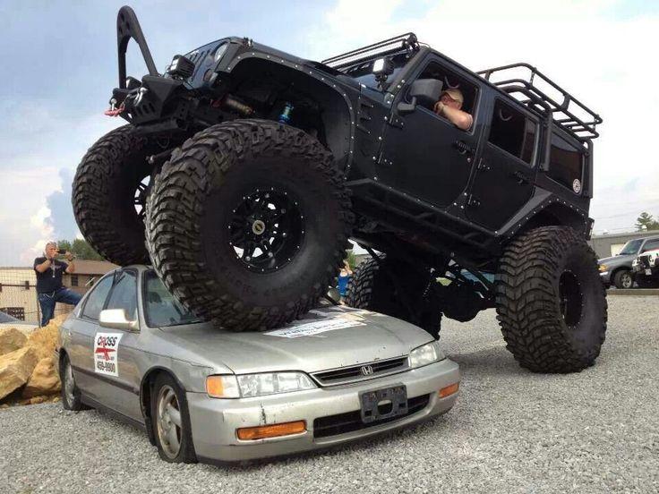 Monster #Jeep eats a #Honda Get #cooking @ http://chefdepot.com
