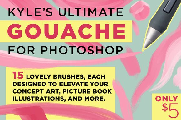 i need this :) Check out Kyle's Gouache Brushes for Photoshop by Kyle's Pro Design Tools  on Creative Market