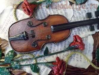 Мастер-класс по изделиям из кожи: Скрипка и розы. Часть 3