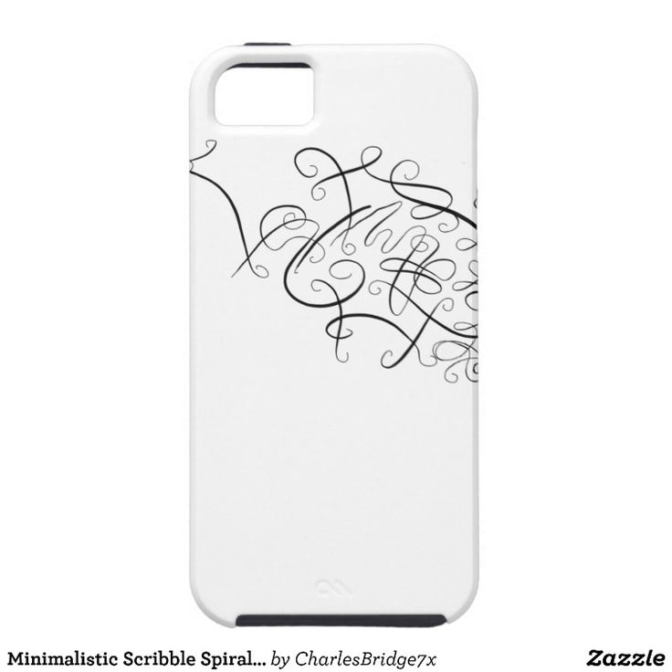 Minimalistic Scribble Spiral Design iPhone SE/5/5s Case - design by Charles Bridge 7x, buy in The Spiral Store