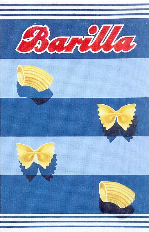 Barilla pasta advert designed by Erberto Carboni from 1938 - 1954 , via kathykavan