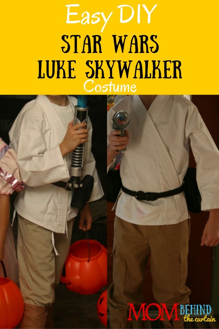 Need a DIY Halloween costume idea for boys? It's easy to put together this Star Wars Luke Skywalker costume from Star Wars: A New Hope.
