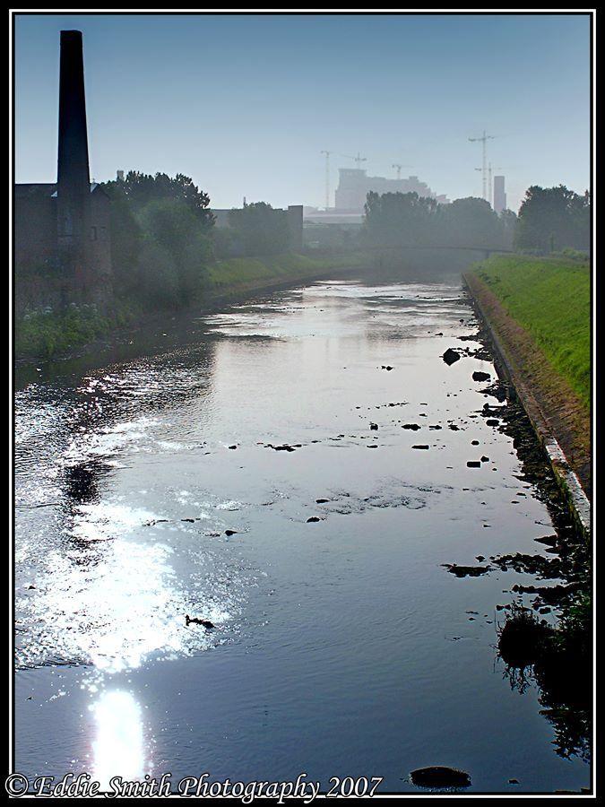 Salford: River Irwell from Broughton Bridge. Photo by Eddie Smith