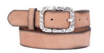 Buckles & Belts - Belt/Gürtel - New Spring Collection 2016 - Torean - Nubuk-Leather - rosé - Design in SWITZERLAND made in ITALY https://www.facebook.com/BucklesBelts