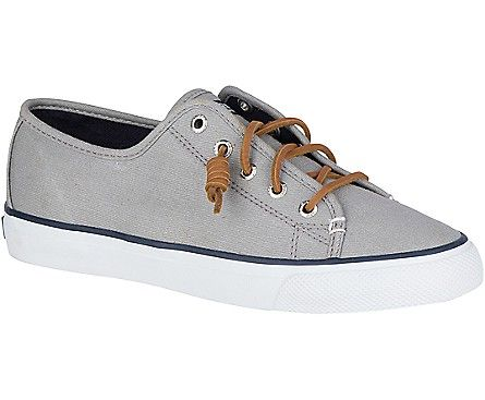 Seacoast Canvas Sneaker, Light Charcoal Burnished  Canvas