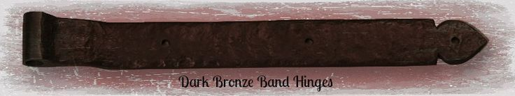 """This Bronze Strap Hinge is made of Solid Bronze. One pair of these hinges will support up to 150 lbs. A set of three will support up to 225 lbs. Bronze ages gracefully and may change in appearance due to varying environmental conditions.Dimensions: 17"""" x 2"""" x 1/4"""" thick Can be used to mount garage doors or gates. Mounting hardware included. --- http://shop.360yardware.com/17-Dark-Bronze-Band-Hinge-Sold-as-Each-20-317.htm?productId=1111"""