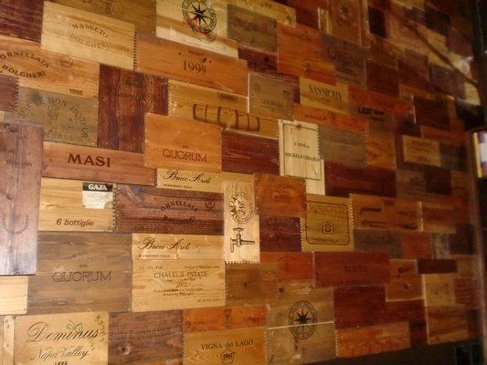 Wine Crate Wall, This is what my dining room wall is going to get turned into!