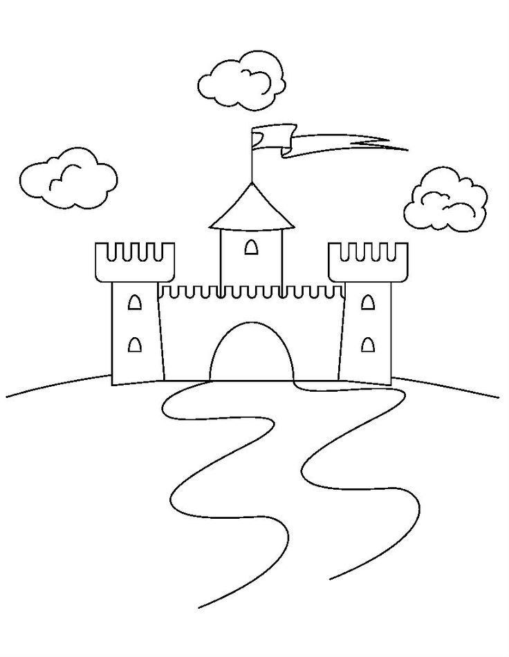 Remote Castles Coloring Pages For Kids Printable And Knights