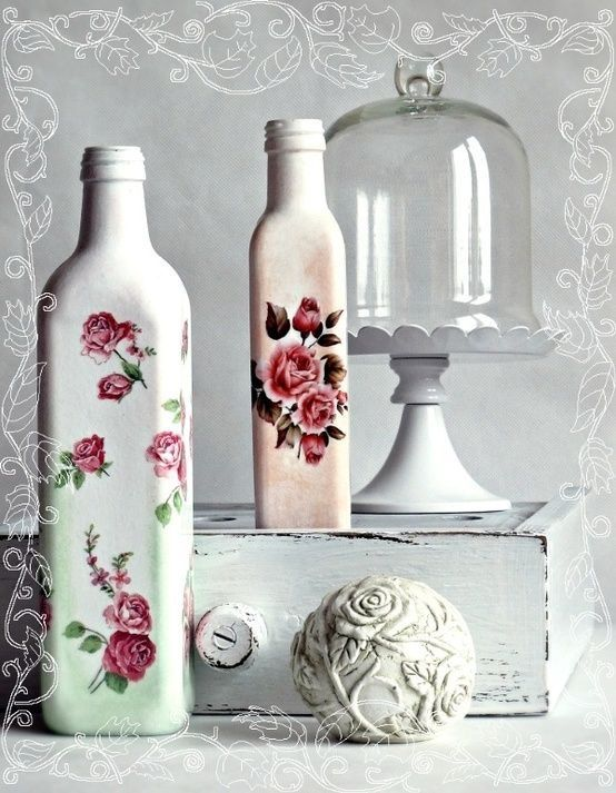 1000 images about decoupage on pinterest ikea bekvam for Vase weihnachtlich dekorieren