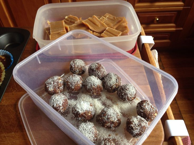 Healthy peanut butter fudge http://iquitsugar.com/recipe/sugar-free-salted-peanut-butter-fudge/  &  Bliss protein balls  http://iquitsugar.com/fruit-free-bliss-balls/