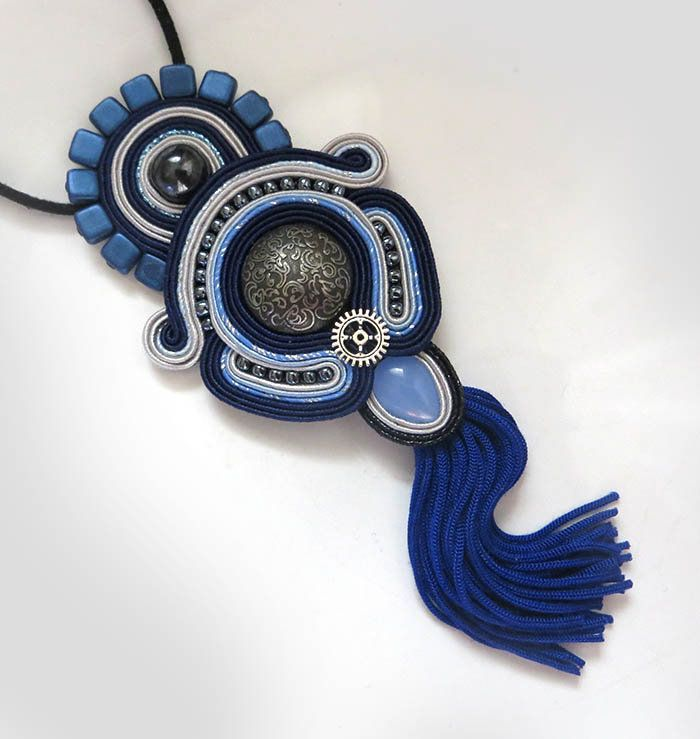 Excited to share the latest addition to my #etsy shop: Navy Blue Tassel Necklace, Blue Soutache Necklace, unique soutache necklace artistic jewelry Tassel Necklace Royal Blue Necklace gioielli http://etsy.me/2oV4iMm #tasselnecklace #soutache #boho #bohonecklace #sutasz