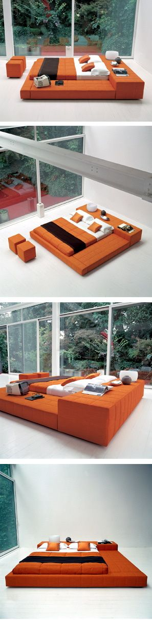 squaring bonaldo italian modern platform upholstered beds