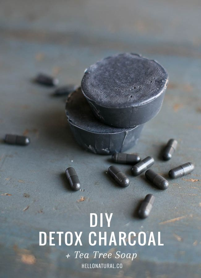 DIY: Detox Charcoal   Tea Tree Soap | http://helloglow.co/diy-activated-charcoal-soap-recipe/